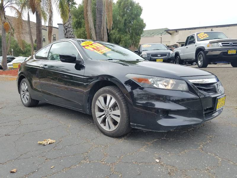 2011 HONDA ACCORD LX S 2DR COUPE 5A black sporty honda accord coupe for fun in the sun  door han