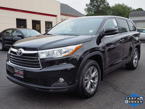 2016 Toyota Highlander For Sale In Wallingford, CT