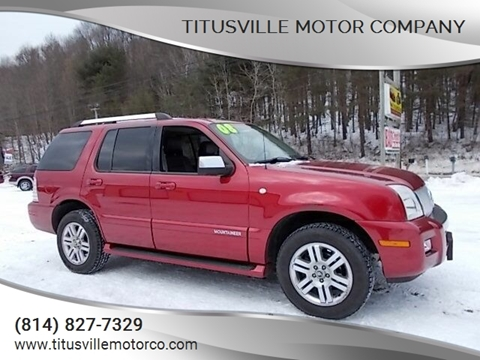2008 Mercury Mountaineer for sale at Titusville Motor Company in Titusville PA