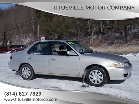 2002 Toyota Corolla for sale at Titusville Motor Company in Titusville PA