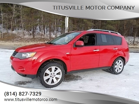 2007 Mitsubishi Outlander for sale at Titusville Motor Company in Titusville PA