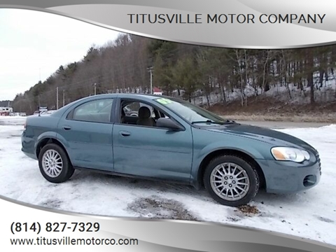 2005 Chrysler Sebring for sale at Titusville Motor Company in Titusville PA