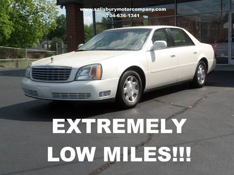 2002 Cadillac DeVille for sale at SALISBURY MOTOR COMPANY in Salisbury NC