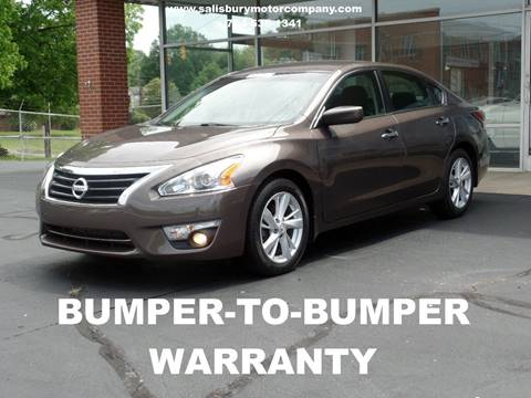 2015 Nissan Altima for sale at SALISBURY MOTOR COMPANY in Salisbury NC