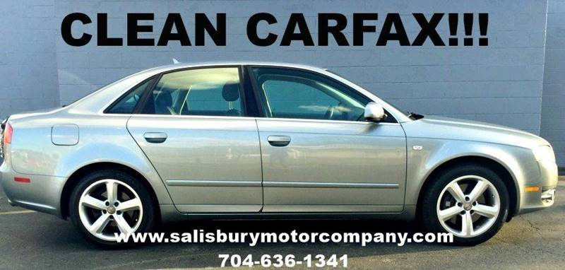 2007 Audi A4 for sale at SALISBURY MOTOR COMPANY in Salisbury NC