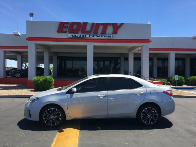2014 TOYOTA COROLLA S 4DR SEDAN silver crumple zones rearcrumple zones frontphone wireless data