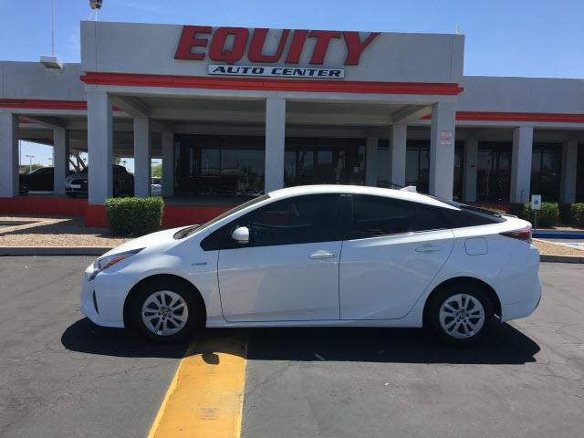 2016 TOYOTA PRIUS TWO 4DR HATCHBACK white rear view camerarear view monitor in dashsteering whe