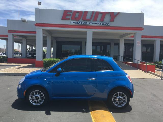 2015 FIAT 500 POP 2DR HATCHBACK blue phone hands freestability controlsecurity anti-theft alarm