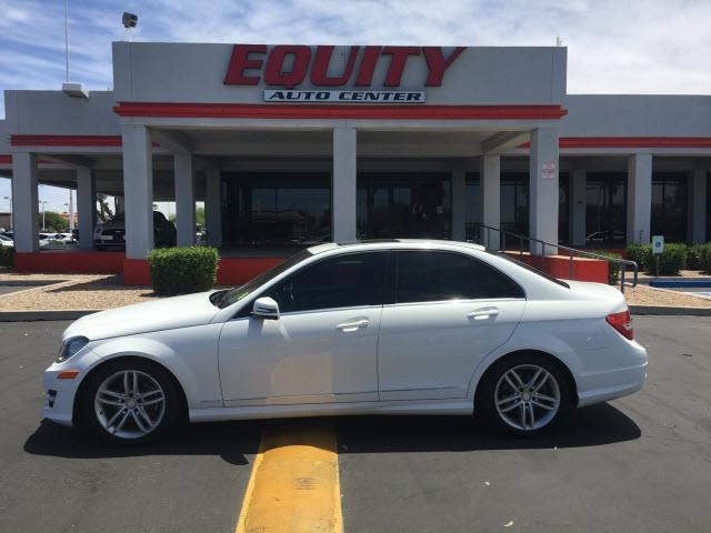 2013 MERCEDES-BENZ C-CLASS off white phone hands freestability controldriver information system