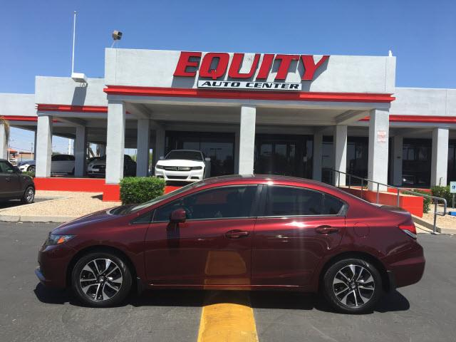 2013 HONDA CIVIC EX 4DR SEDAN dk red rear view camerarear view monitor in dashstability contro