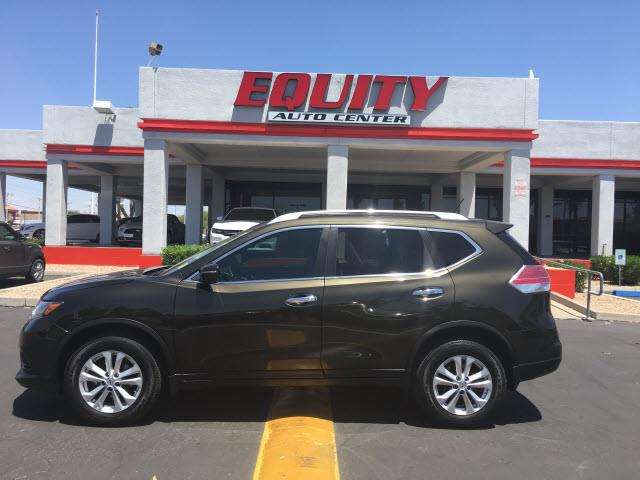 2014 NISSAN ROGUE S AWD 4DR CROSSOVER dk green rear view camerarear view monitor in dashstabil