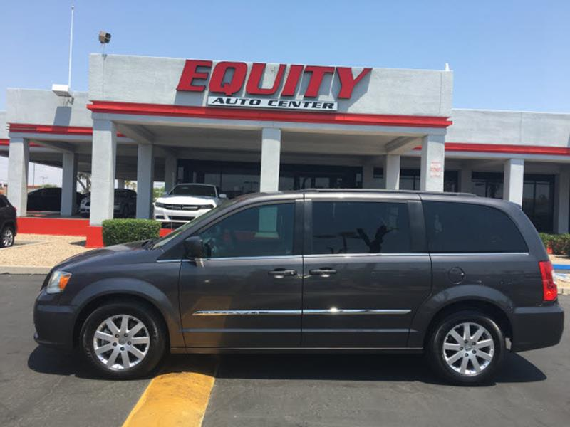 2015 CHRYSLER TOWN AND COUNTRY TOURING 4DR MINI VAN gray rear view monitor in dashrear view came