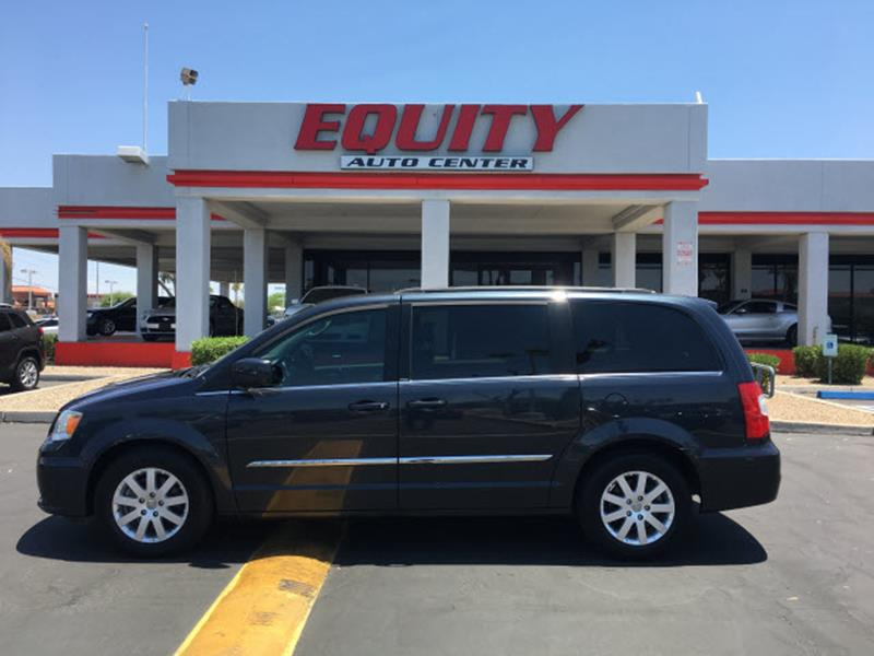 2014 CHRYSLER TOWN AND COUNTRY TOURING 4DR MINI VAN black rear view monitor in dashrear view cam