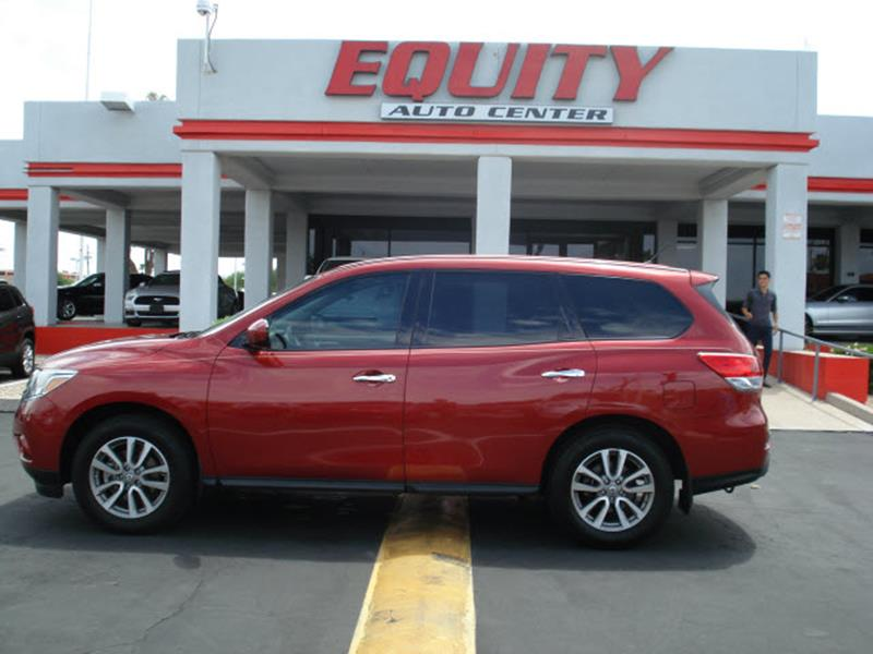 2014 NISSAN PATHFINDER S 4DR SUV red stability controlsecurity remote anti-theft alarm systemmu