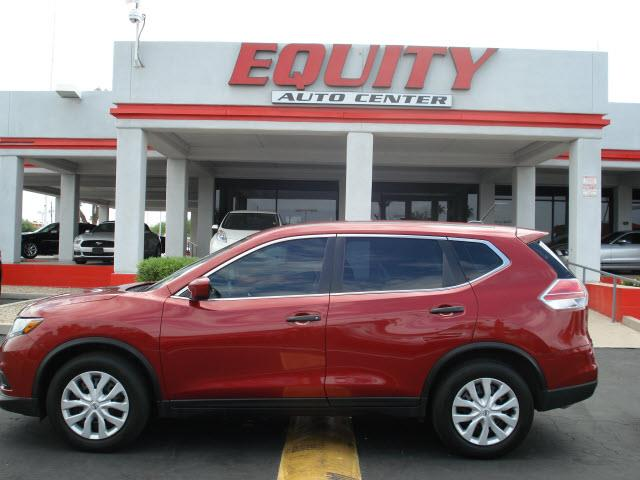 2016 NISSAN ROGUE S 4DR CROSSOVER red rear view camerarear view monitor in dashsteering wheel m