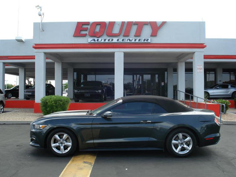 2015 FORD MUSTANG V6 2DR CONVERTIBLE dk gray rear view camerarear view monitor in mirrorphone