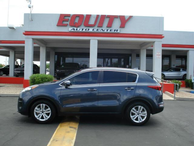 2017 KIA SPORTAGE LX 4DR SUV blue rear view camerarear view monitor in dashstability controldr