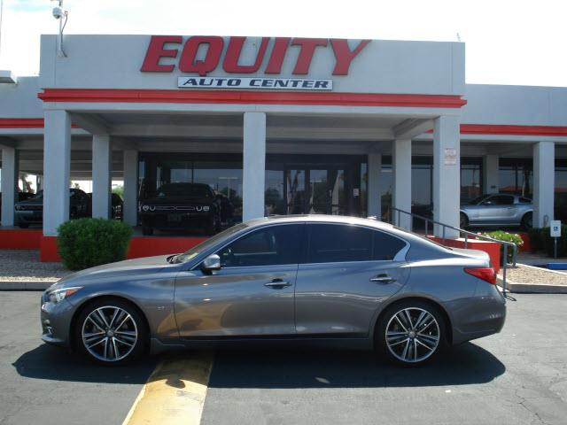 2014 INFINITI Q50 PREMIUM 4DR SEDAN gray rear view camerarear view monitor in dashsteering whee