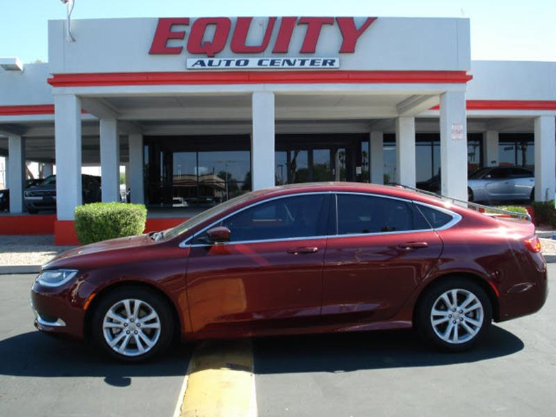 2015 CHRYSLER 200 LIMITED 4DR SEDAN dk red stability controldriver information systemsecurity