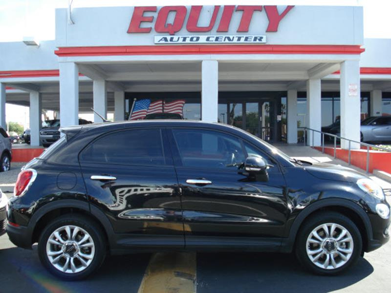2016 FIAT 500X EASY 4DR CROSSOVER black steering wheel mounted controls voice recognition control