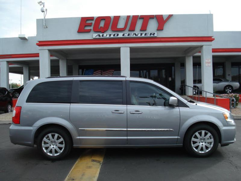2016 CHRYSLER TOWN AND COUNTRY TOURING 4DR MINI VAN silver rear view monitor in dashrear view ca