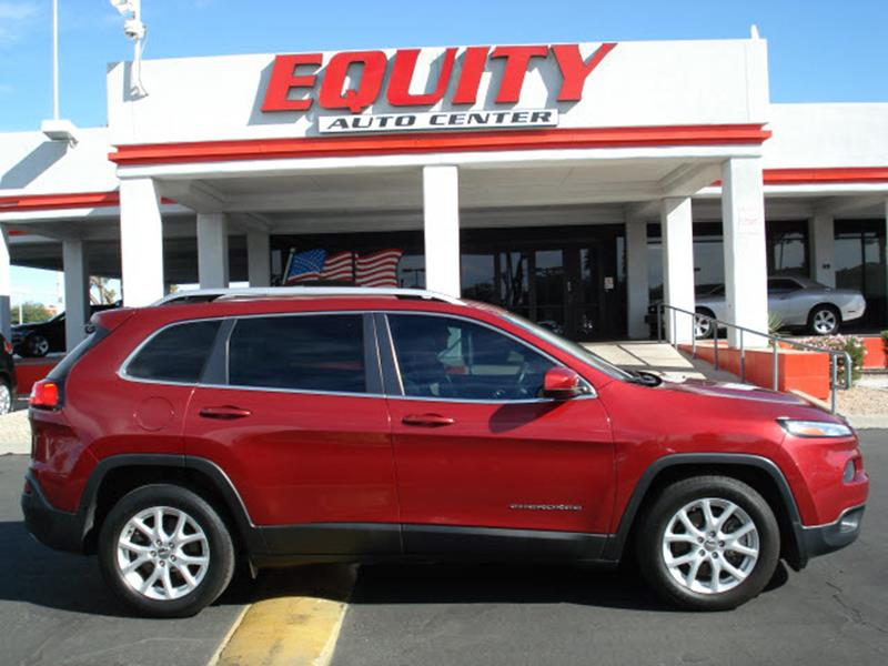 2016 JEEP CHEROKEE LATITUDE 4DR SUV red rear view camerarear view monitor in dashstability cont