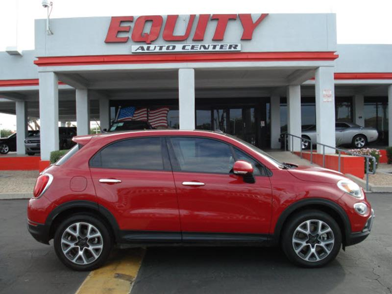 2016 FIAT 500X LOUNGE 4DR CROSSOVER dk red rear view camerarear view monitor in dashsteering w