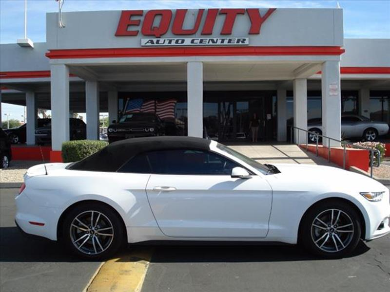 2017 FORD MUSTANG ECOBOOST PREMIUM 2DR CONVERTIBLE white exhaust tip color chromeexhaust dual exh