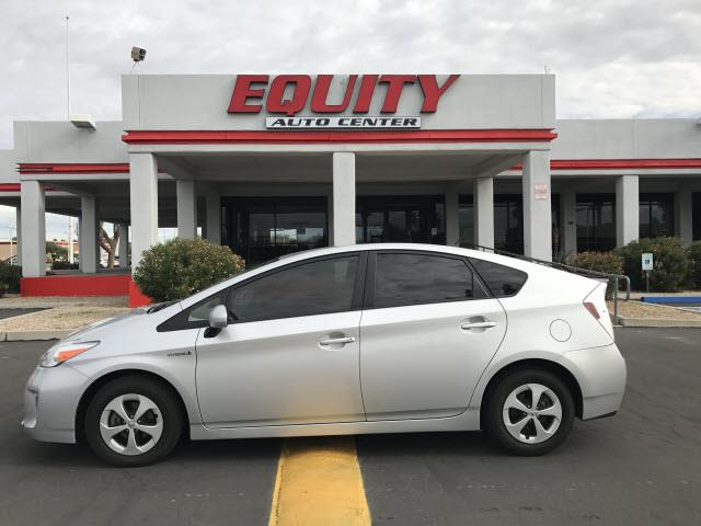 2013 TOYOTA PRIUS FIVE 4DR HATCHBACK silver real time trafficnavigation system with voice recogn