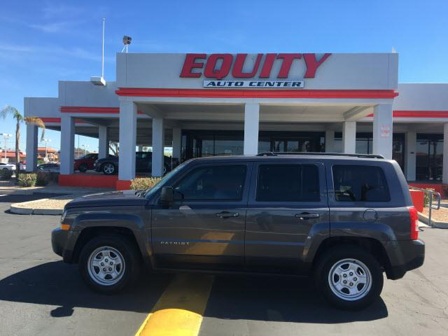 2015 JEEP PATRIOT SPORT 4DR SUV gray impact sensor post-collision safety systemroll stability co