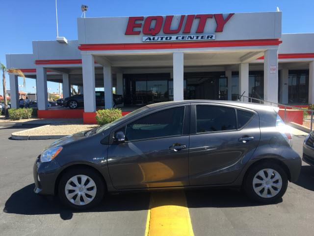 2014 TOYOTA PRIUS C TWO 4DR HATCHBACK gray multi-functional information centercrumple zones rear