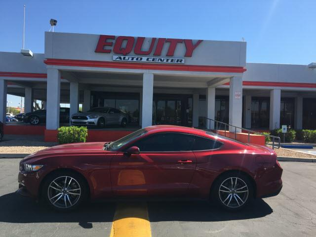 2015 FORD MUSTANG ECOBOOST 2DR FASTBACK red sync - satellite communicationsimpact sensor post-co