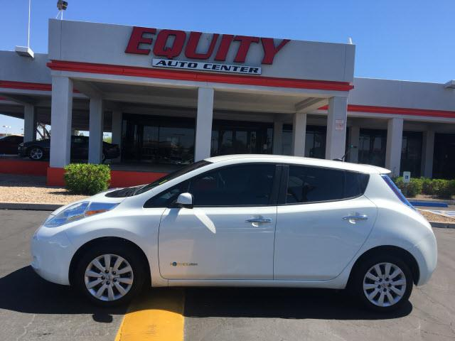 2013 NISSAN LEAF S 4DR HATCHBACK white crumple zones rearcrumple zones frontphone wireless data