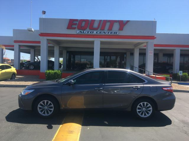 2016 TOYOTA CAMRY LE 4DR SEDAN dk gray crumple zones rearelectronic messaging assistance with v