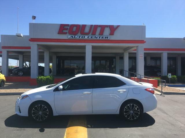 2014 TOYOTA COROLLA LE 4DR SEDAN white crumple zones rearcrumple zones frontphone wireless data