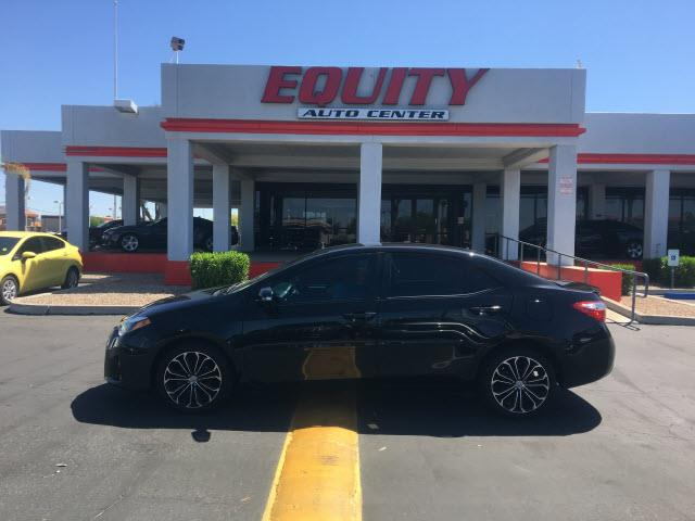 2014 TOYOTA COROLLA LE 4DR SEDAN black crumple zones rearcrumple zones frontphone wireless data