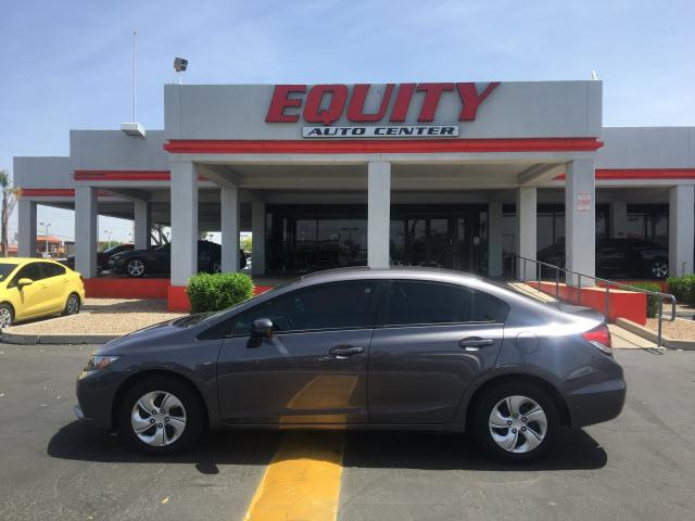 2014 HONDA CIVIC LX 4DR SEDAN CVT dk gray crumple zones frontphone wireless data link bluetooth