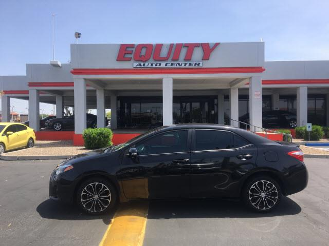 2014 TOYOTA COROLLA S 4DR SEDAN black crumple zones rearcrumple zones frontphone wireless data