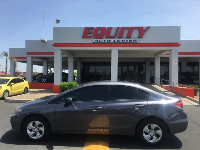 2015 HONDA CIVIC LX 4DR SEDAN CVT dk gray audio - internet radio pandoracrumple zones frontph