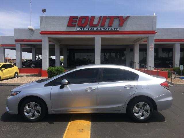 2014 HONDA CIVIC LX 4DR SEDAN CVT silver crumple zones frontphone wireless data link bluetoothm
