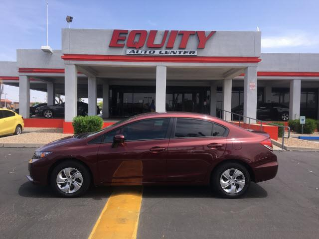 2014 HONDA CIVIC LX 4DR SEDAN CVT dk red crumple zones frontphone wireless data link bluetooth