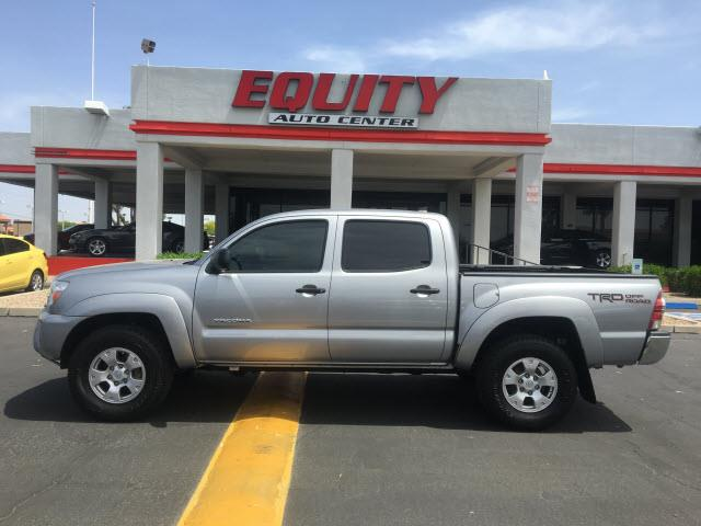 2015 TOYOTA TACOMA V6 4X4 4DR DOUBLE CAB 50 FT SB silver phone wireless data link bluetoothstab