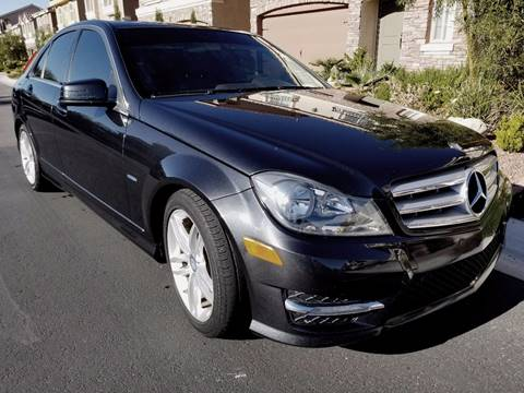 2012 Mercedes-Benz C-Class for sale at LUXE Autos in Las Vegas NV