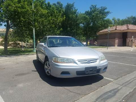 2001 Honda Accord for sale at LUXE Autos in Las Vegas NV