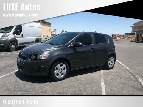 2014 Chevrolet Sonic for sale at LUXE Autos in Las Vegas NV