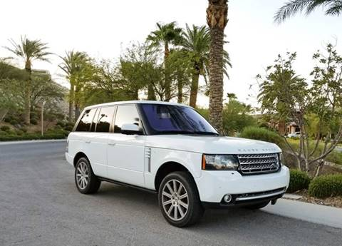 2012 Land Rover Range Rover for sale at LUXE Autos in Las Vegas NV