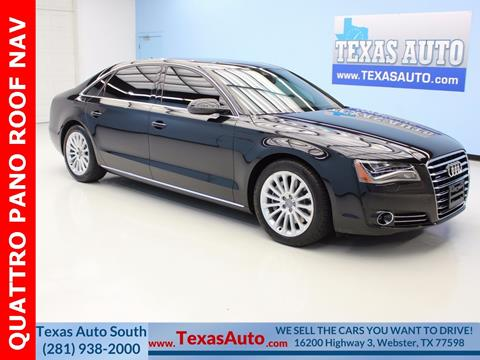 2013 Audi A8 L for sale in Houston, TX
