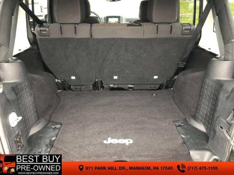 2016 Jeep Wrangler Unlimited 4x4 Sahara 4dr SUV - Manheim PA
