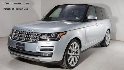 2017 Land Rover Range Rover for sale in Newtown Square, PA