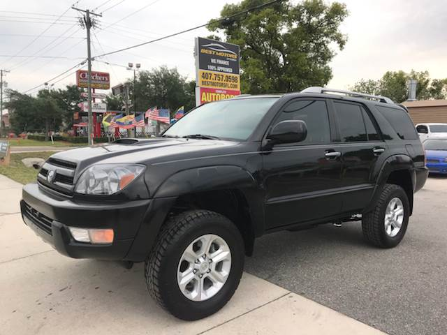 2003 Toyota 4Runner For Sale At BEST MOTORS OF FLORIDA In Orlando FL